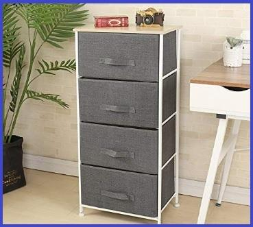BAKAJI Mobile Cassettiera Mobiletto 4 Cassetti in Legno MDF Pomelli in Metallo Design Moderno Arredamento Casa Camera da Letto Colore Quercia 68 x 40 x 82 cm
